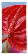 Tropical Red Anthurium Bath Towel