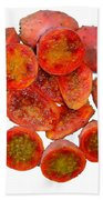 Tropical Red Prickly Pear Fruit  Bath Towel