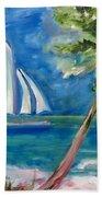 Tropical Sails Bath Towel
