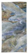 Trout Pond Abstract Bath Towel