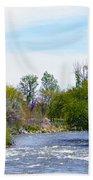 Truckee River  Bath Towel