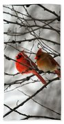 True Love Cardinal Bath Towel