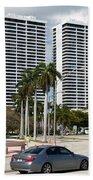Trump Plaza In Downtown West Palm Beach Skyline Bath Towel