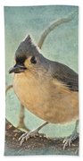 Tufted Titmouse IIi Bath Towel