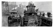 Tugboat Winter  1946 Bath Towel