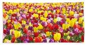 Tulip Flower Festival Art Prints Spring Bath Towel