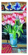 Tulips And Valentines Bath Towel