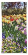 Tulips At Dallas Arboretum V33 Bath Towel