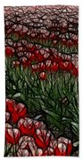 Tulips Fields Are Forever Bath Towel
