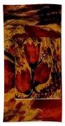 Tulips In Acryl Collage Bath Towel