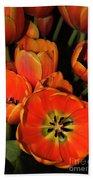 Tulips Of Fire Bath Towel