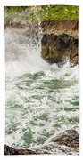 Turbulent Devils Churn - Oregon Coast Bath Towel