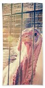 Turkey In The Cage Bath Towel