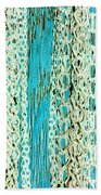 Turquoise Chained Bath Towel