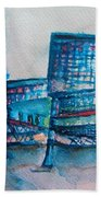 Turquoise Check In Bath Towel