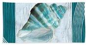 Turquoise Seashells Xxii Bath Towel