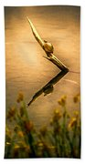 Turtle On Golden Pond Bath Towel