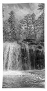 Turtletown Creek In Black And White Bath Towel