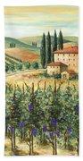 Tuscan Vineyard And Villa Bath Towel