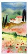 Tuscany Landscape 02 Bath Towel