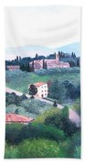 Tuscany Landscape Bath Towel