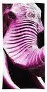 Tusk 2 - Pink Elephant Art Bath Towel