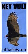 Turkey Vulture Educational Bath Towel