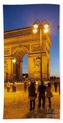 Twilight At Arc De Triomphe Bath Towel