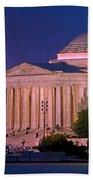 Twilight At The Jefferson Memorial Bath Towel