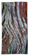 Twisted Colourful Wood Bath Towel