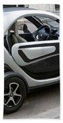 Twizy Rental Electric Car Side And Back Milan Italy Bath Towel