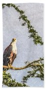Two African Fish Eagles Haliaeetus Vocifer  Bath Towel
