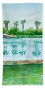 Two Bridges At Rainbow Lagoon Bath Towel