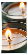 Two Candles Bath Towel