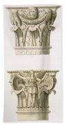 Two Column Capitals Bath Towel