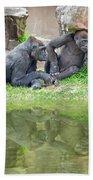 Two Gorillas Relaxing II Bath Towel