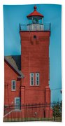 Two Harbors Lighthouse Bath Towel