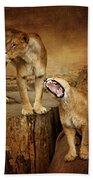 Two Lions Bath Towel
