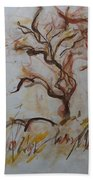 Two Olive Trees Bath Towel