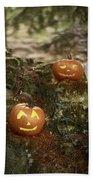 Two Pumpkins Bath Towel