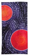 Two Suns Original Painting Hand Towel