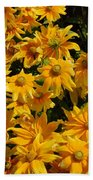 Two Toned Yellow Blooms Bath Towel
