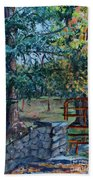 Two Trees And A Gate Bath Towel
