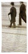Two Victorian Men Walking Bath Towel