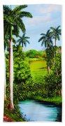 Typical Country Cuban Landscape Bath Towel