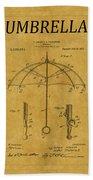 Umbrella Patent 1 Bath Towel
