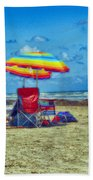 Umbrellas At The Beach Bath Towel