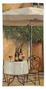 Un Altro Bicchiere Prima Di Pranzo Bath Towel by Guido Borelli