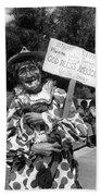 Uncle Harry Clown Drive Carefully  God Bless America Sign Tucson Arizona 1991 Bath Towel