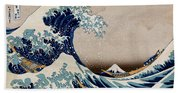 Under The Great Wave Off Kanagawa Bath Towel